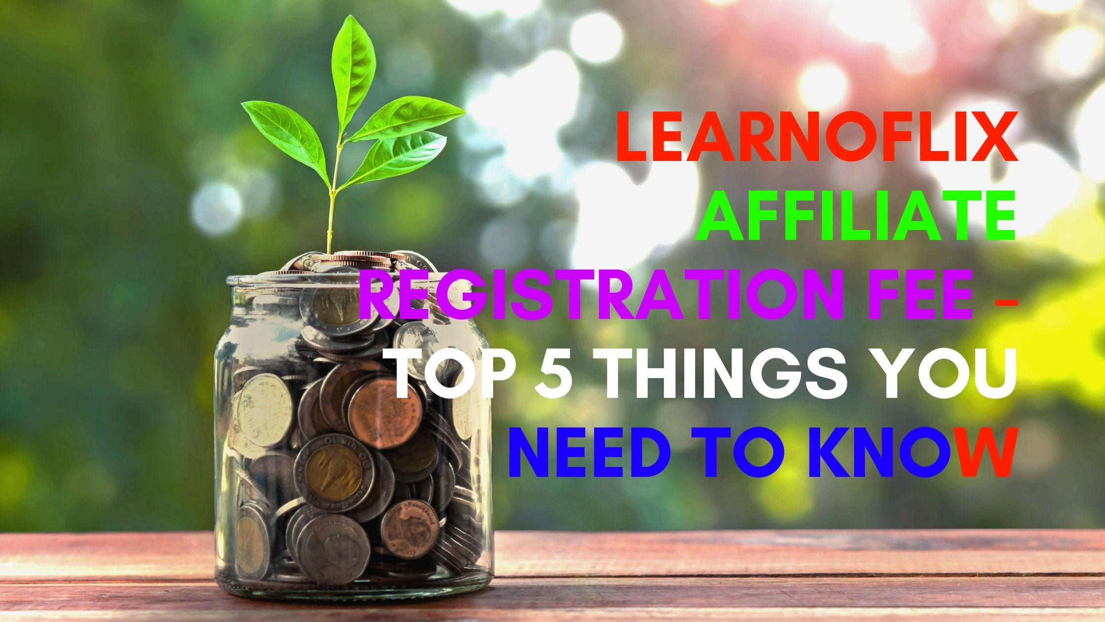 Learnoflix Affiliate Program Registration Fee
