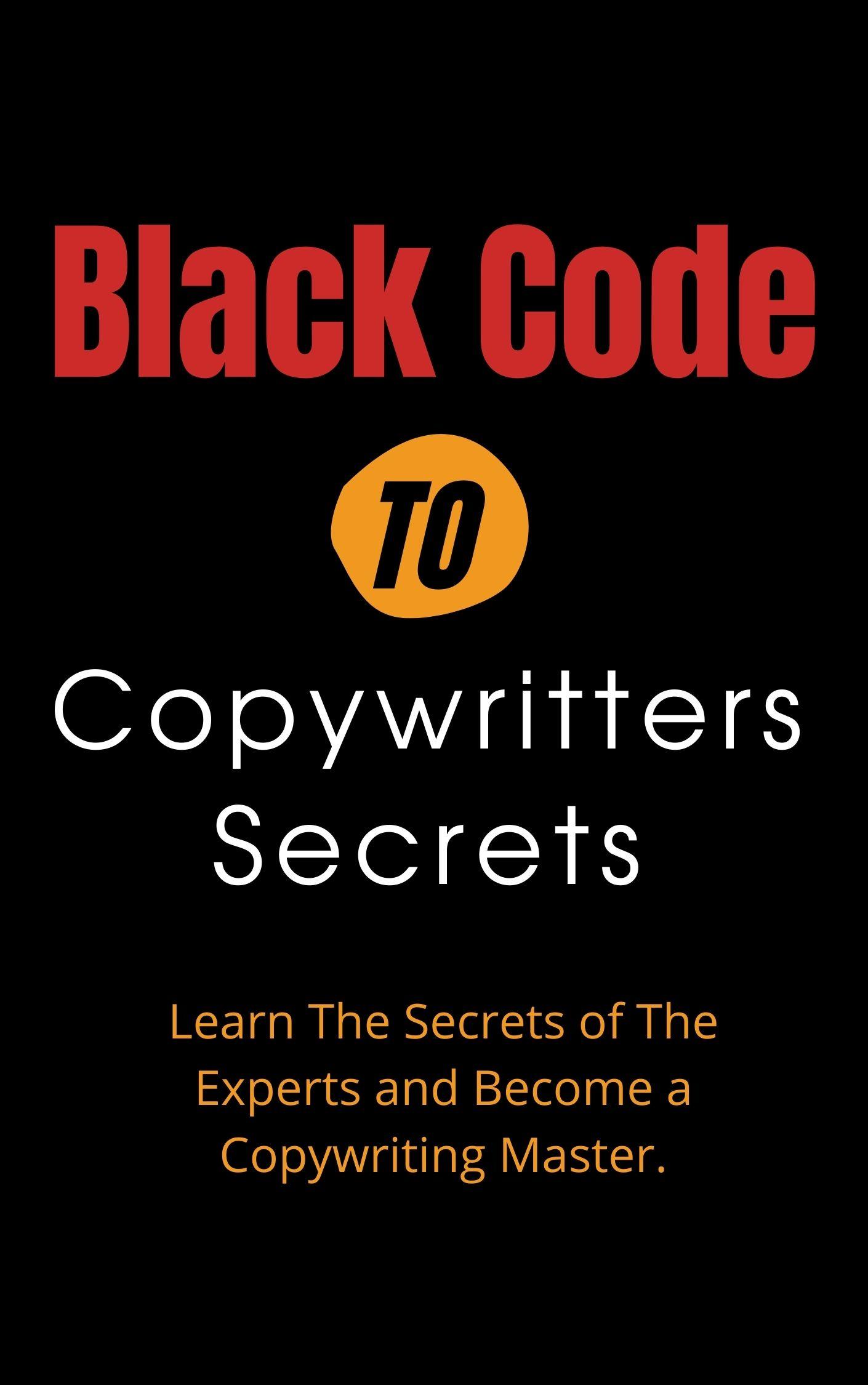 Black Code To Copywriting Cover